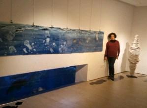"""Esther Galarzaren """"Urdina beltzez"""" erakusketa ikus daiteke Donostiako Aquariumean"""