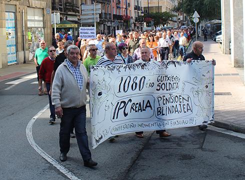 Eskualdeko pentsiodunek manifestazioa egingo dute bihar eguerdian
