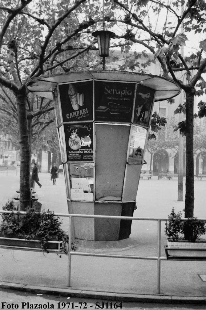 1991ko maiatzaren amaierara arte Untzagako kantoi horretan egon zan kioskua, eraitsi eben arte.