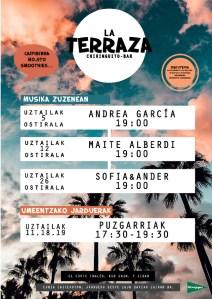 Musika Zuzenean: Andrea Garcia @ El Corte Ingleseko terrazan (euria egitekotan jarduera beste egun batean egingo da)
