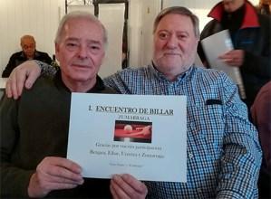 Untzagako bikoteak irabazi du Zumarragan jokatu den jubilatu etxeen arteko I. Billar Topaketan