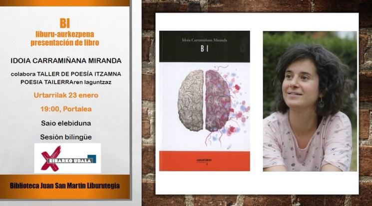 """Poema-liburuaren aurkezpena: """"Bi"""" (Idoia Carramiñana)"""