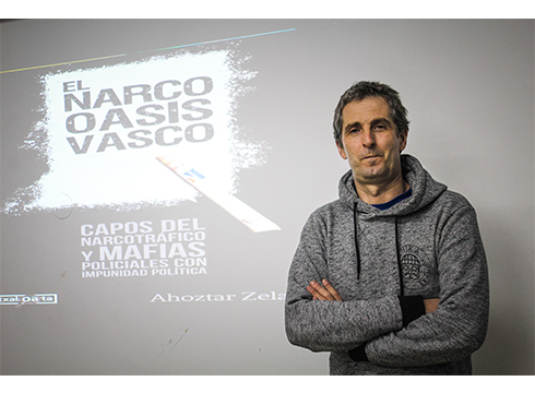 """Ahoztar Zelaieta, kazetaria eta kriminologoa: """"Euskal Herria toki estrategikoa da narkotrafikoarentzat"""""""