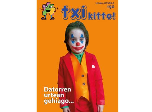 Otsaileko Txikitto! aldizkaria kolorez jantzita dator