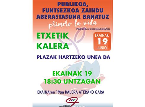 Publikoaren alde egiteko mobilizazioa egingo da bihar Untzagan