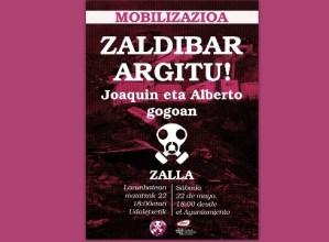 Zapatuan Zallan egingo den manifestaziora joateko autobusa antolatu du Zaldibar Argituk