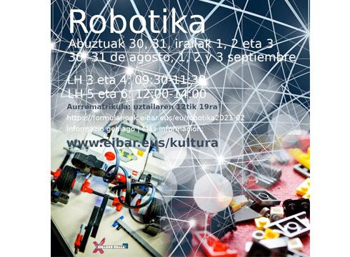 Robotika tailerrak antolatu dituzte LH-ko ikasleentzat