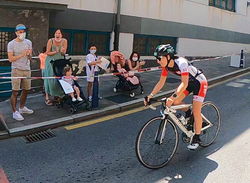 Jaz-eko Maialen Zubizarretak eta Roberto Gartziak Logroñoko triatloi olinpikoa amaitu zuten