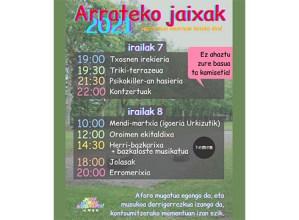 Arrateko Jaiak ospatzeko egitaraua prestatu du Jaixak Herrixak Herrixandakok