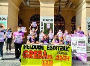 LAB sindikatuak greba deitu du Gipuzkoako egoitzetarako