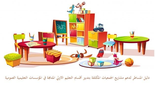 دليل المساطر لدعم مشاريع الجمعيات المكلفة بتدبير أقسام التعليم الاولي المدمجة في المؤسسات التعليمية العمومية