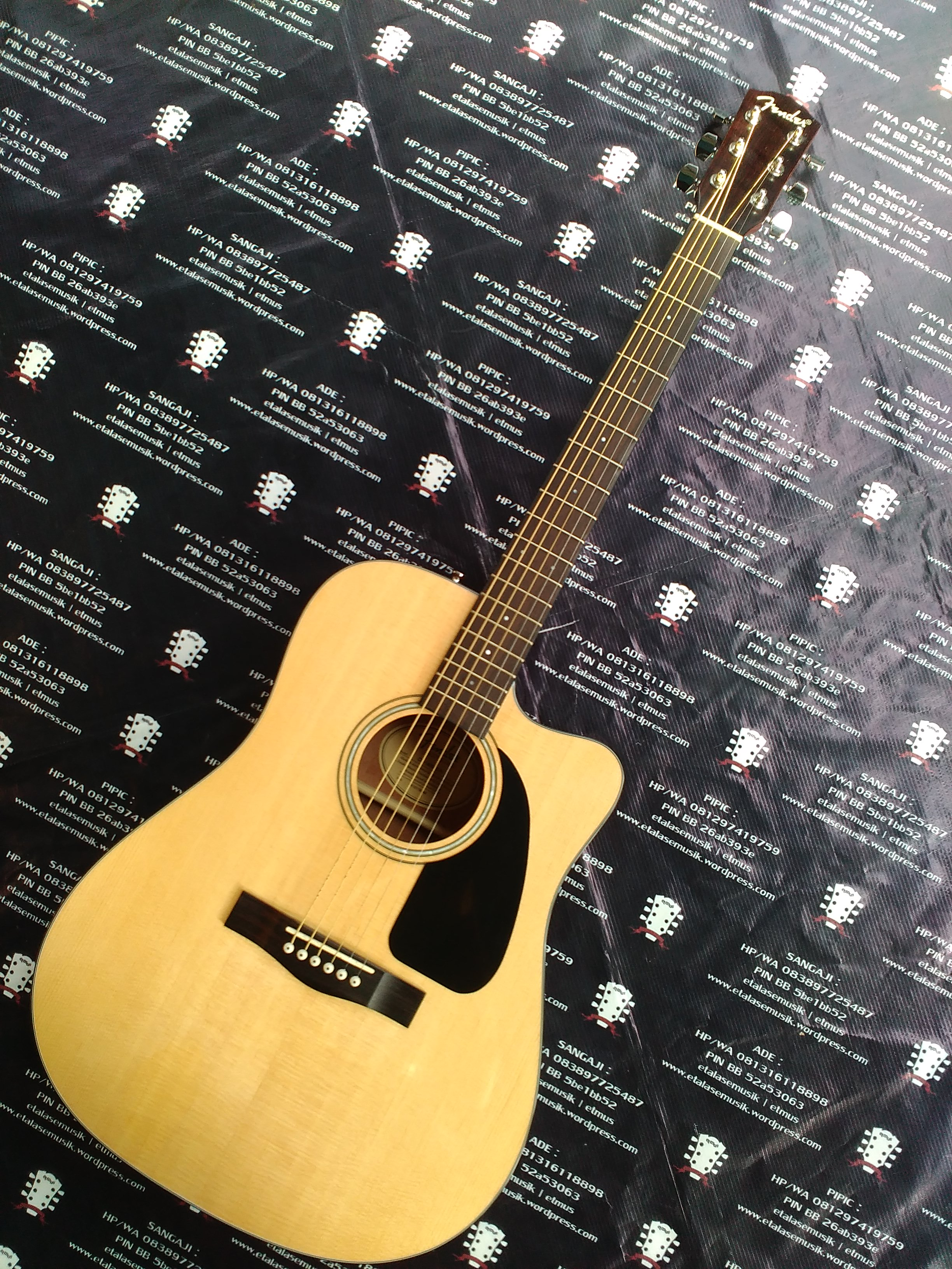 Gitar Akustik Elektrik Solid Top : Fender CD-140SCE/N