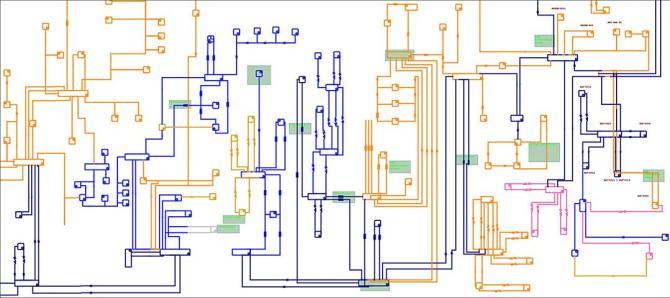 substation  equivalent circuit diagram  distribtuon