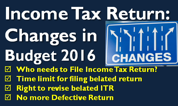 Income-Tax-Return-Changes-in-Budget-2016