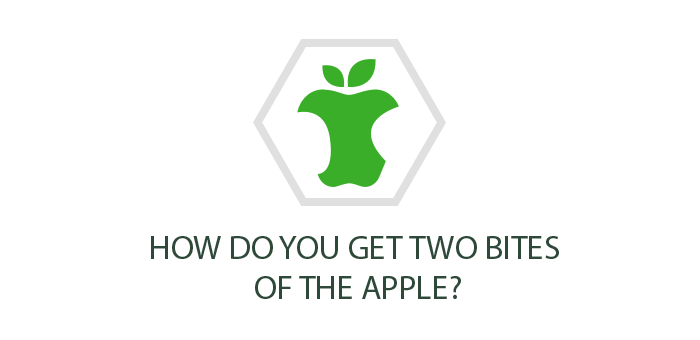How do you get two bites of the apple?
