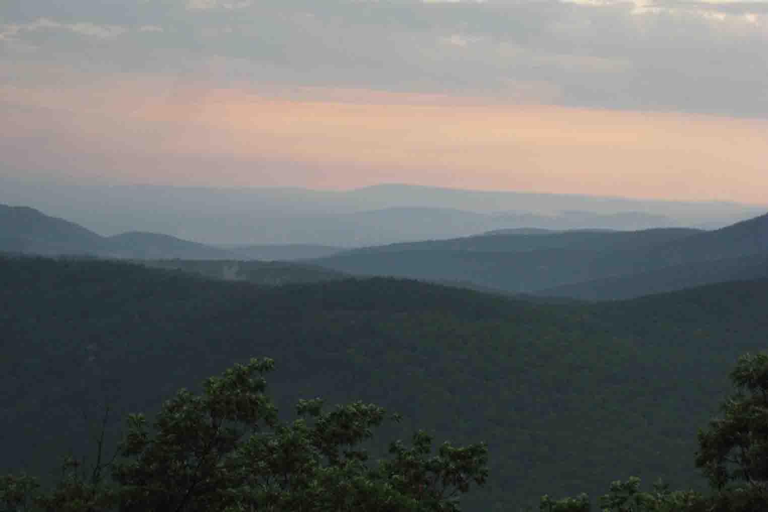sunset point ouachita mountains oklahoma