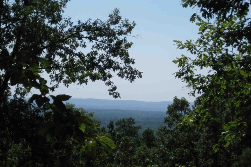 view of the arkansas ozarks from hot springs national park