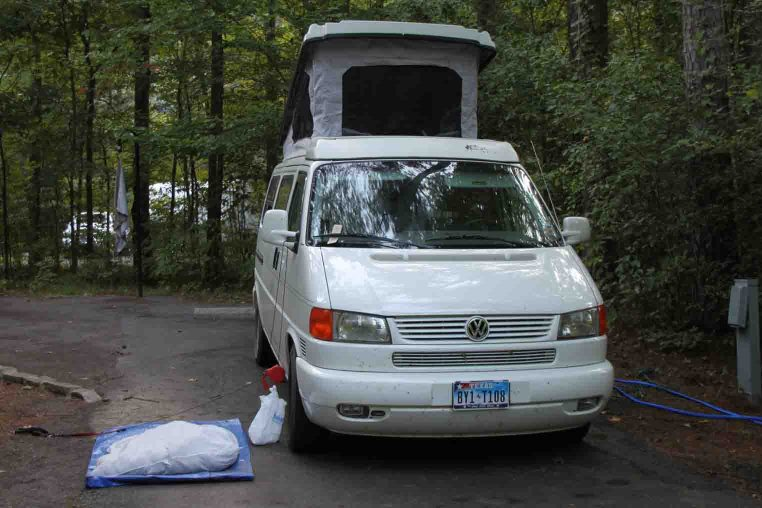 eurovan, long pool recreation area, ozark national forest