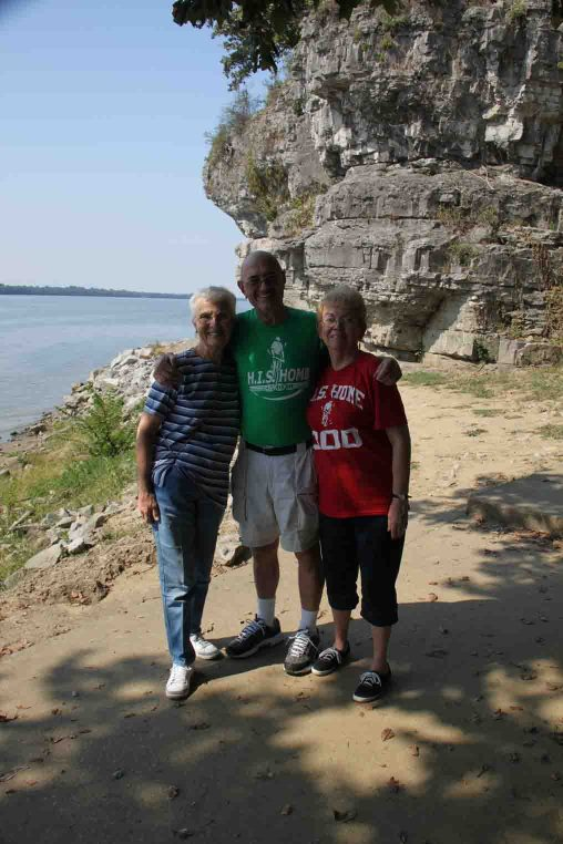 don, Marilyn, and Vera at Cave in rock state park