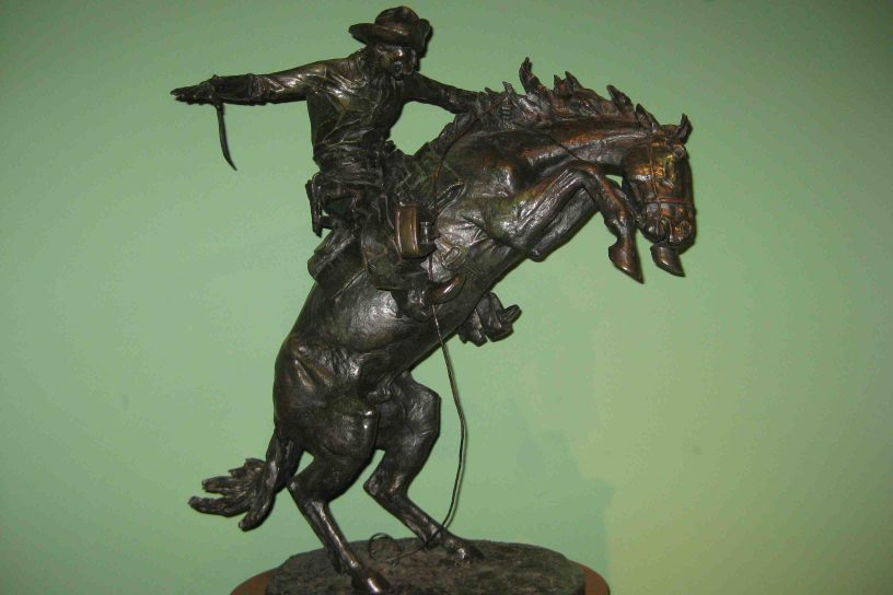 bronze at the frederic remington art museum