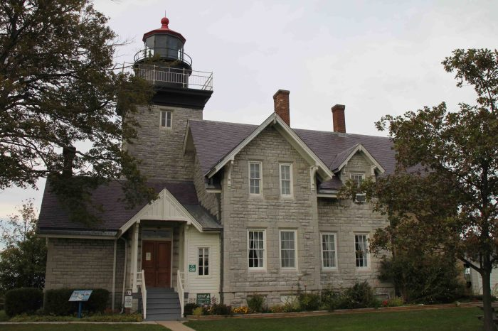 thirty Mile Point Lighthouse in Golden Hill State Park on the Seaway Trail