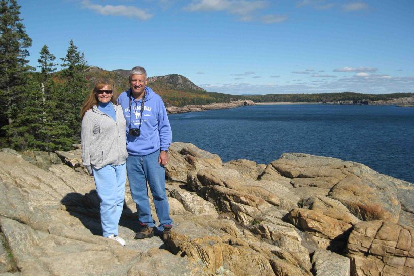 Linda and Mike in Acadia National Park