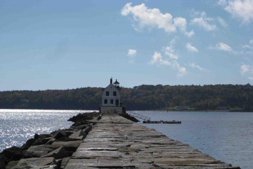 Rockland Breakwater Lighthouse on the Maine Coast
