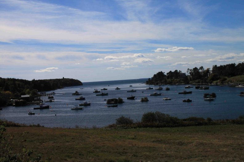 harbor on bailey island along the coast of maine