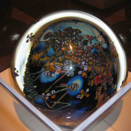 glass work by Josh Simpson at the sandwich glass museum in cape cod