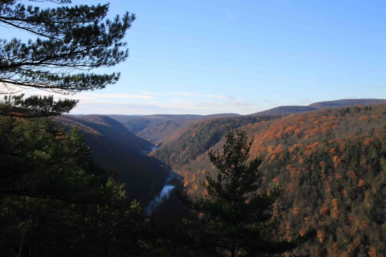 the Grand Canyon of Pennsylvania in the Alleghenies