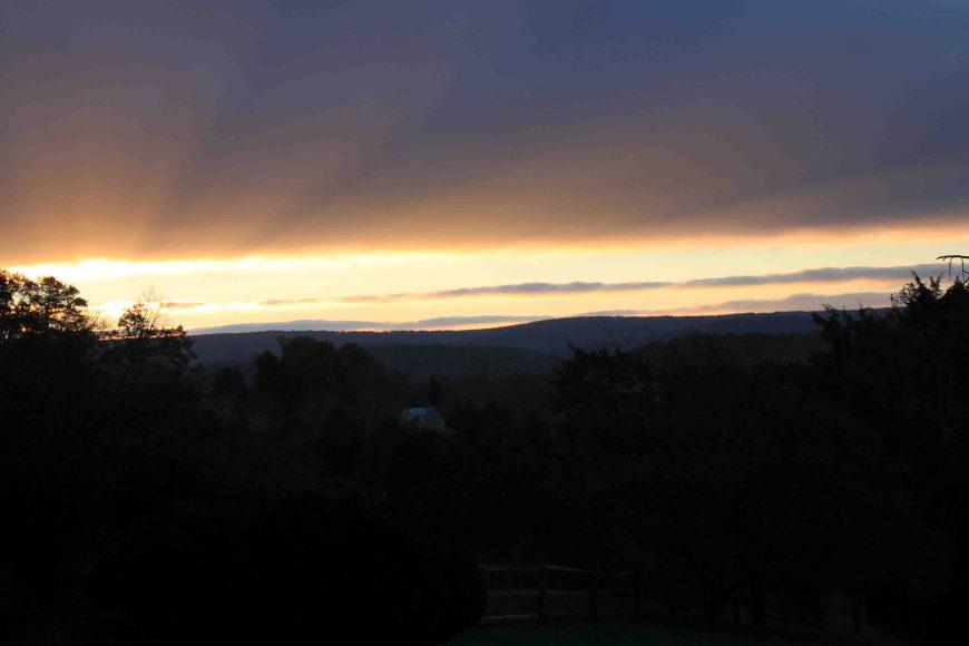 sunrise in Berryville Virginia