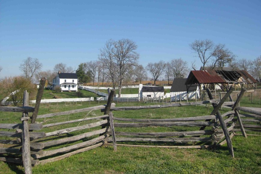 farmstead at antietam national battlefield in maryland