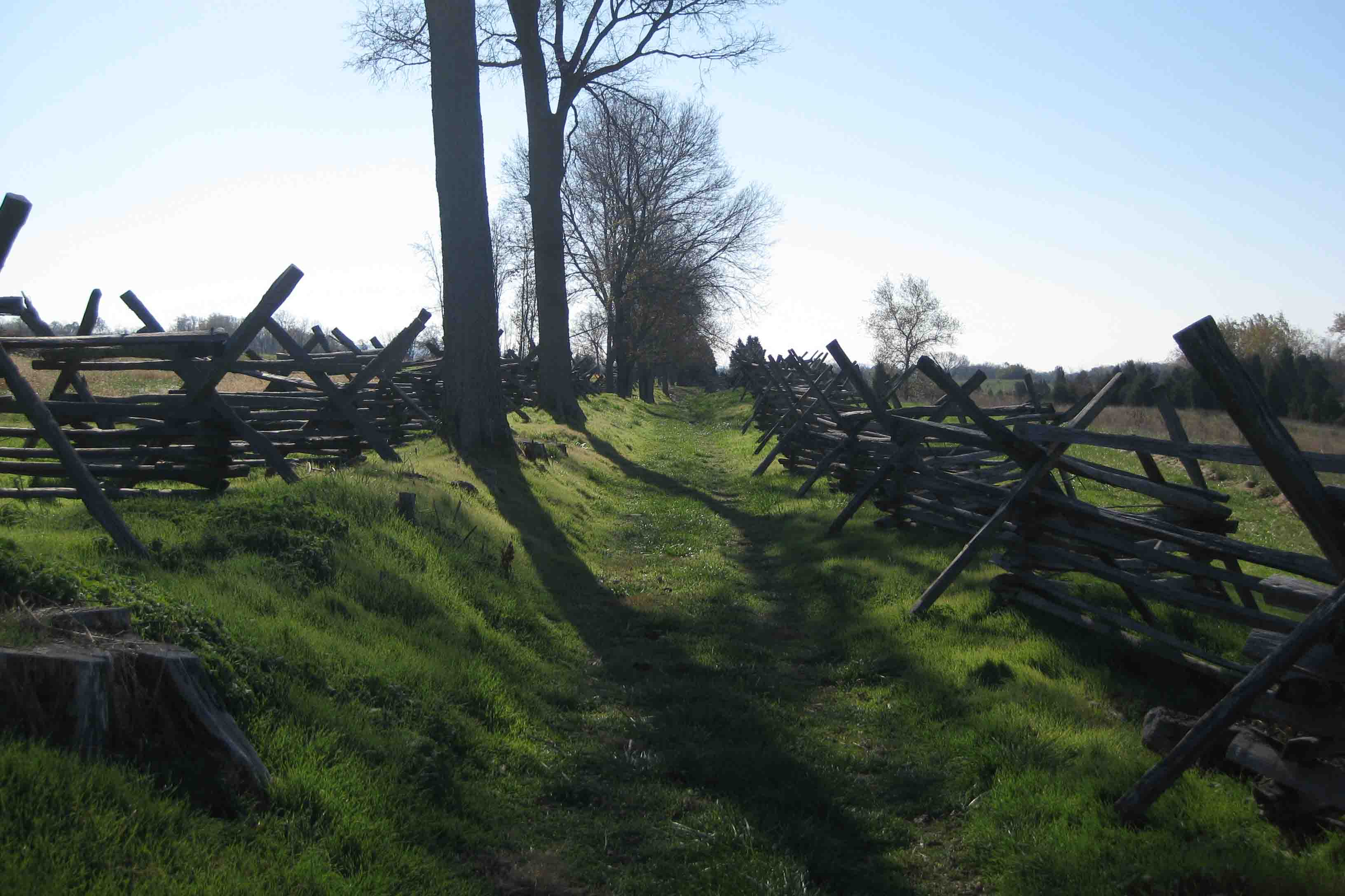 bloody lane at antietam national battlefield in Maryland