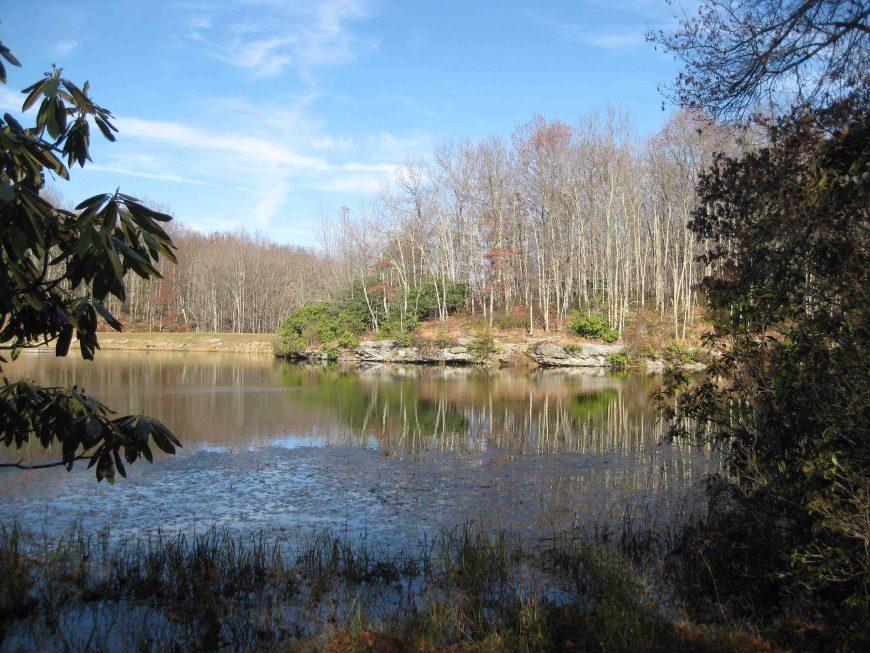 boley lake at babcock state park on the midland trail