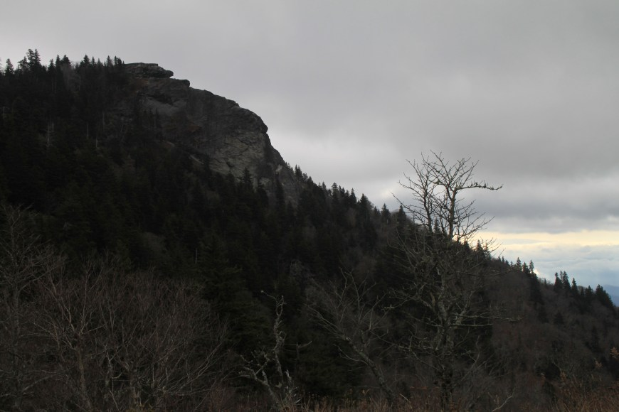 devils courthouse on the blue ridge parkway in North Carolina