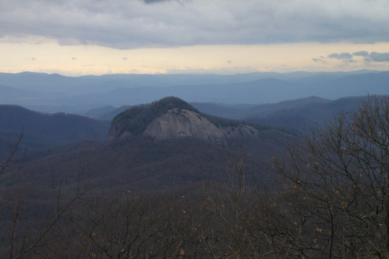 Looking Glass Rock Overlook on the Blue Ridge Parkway in North Carolina