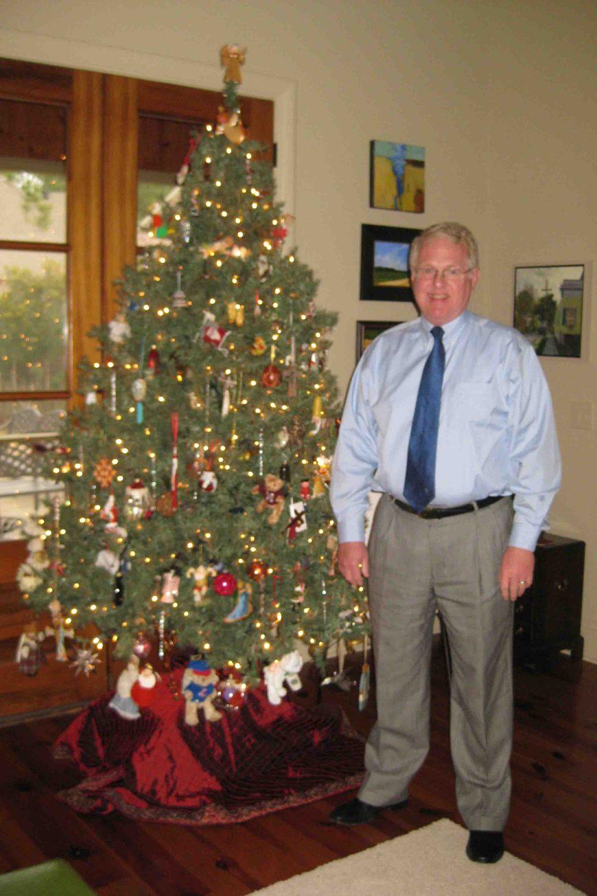 mike and his christmas tree