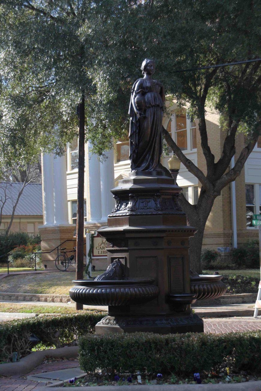 statue in jefferson in east texas
