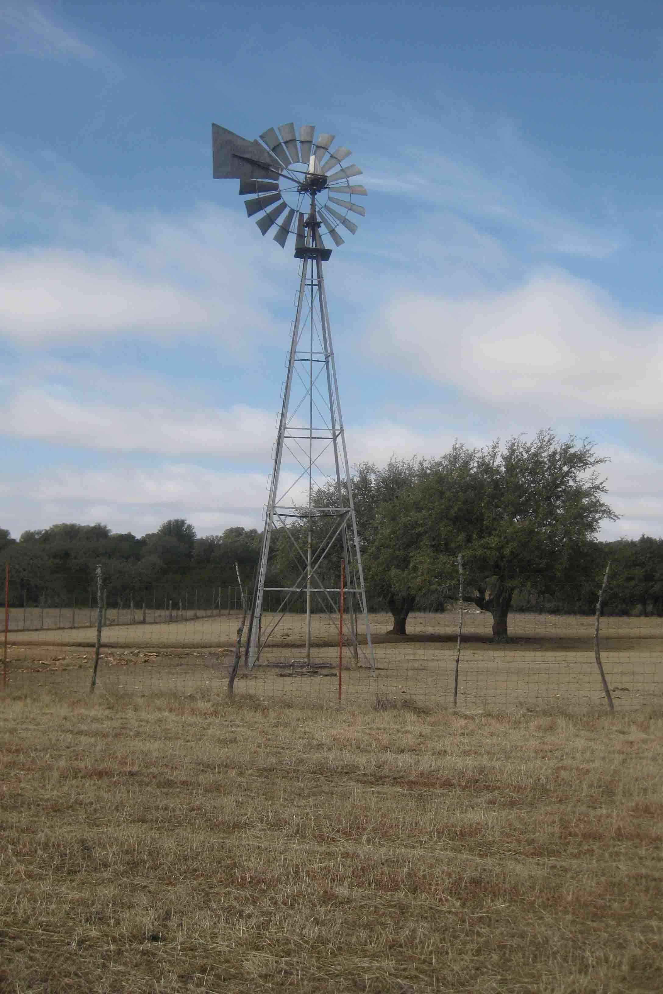 windmill in the Texas hill country