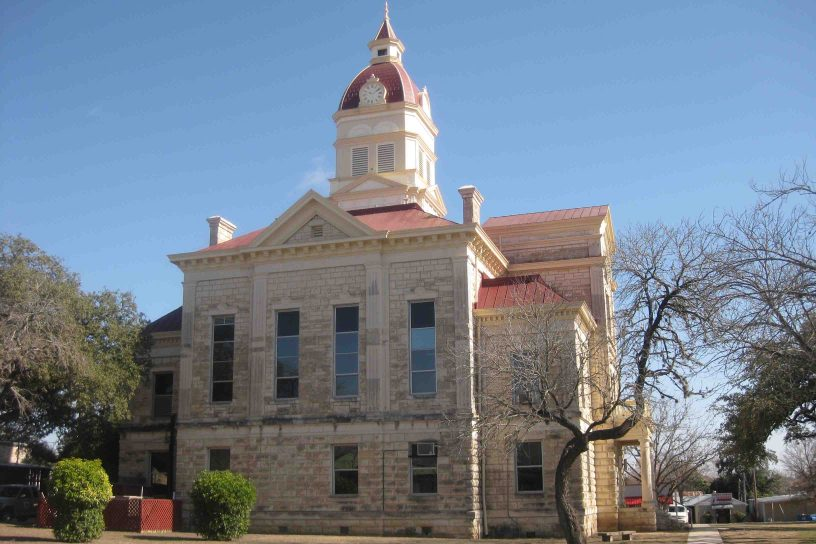 bandera county courthouse in the texas hill country