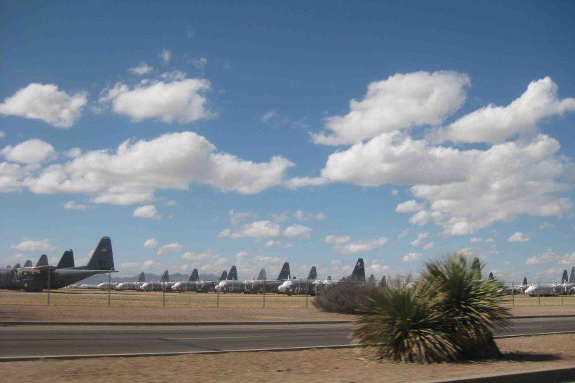 airplane graveyard in tuscon