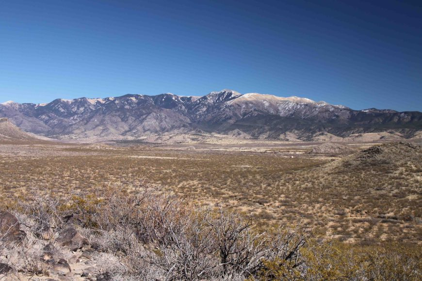view from Three Rivers Petroglyph Site in New Mexico