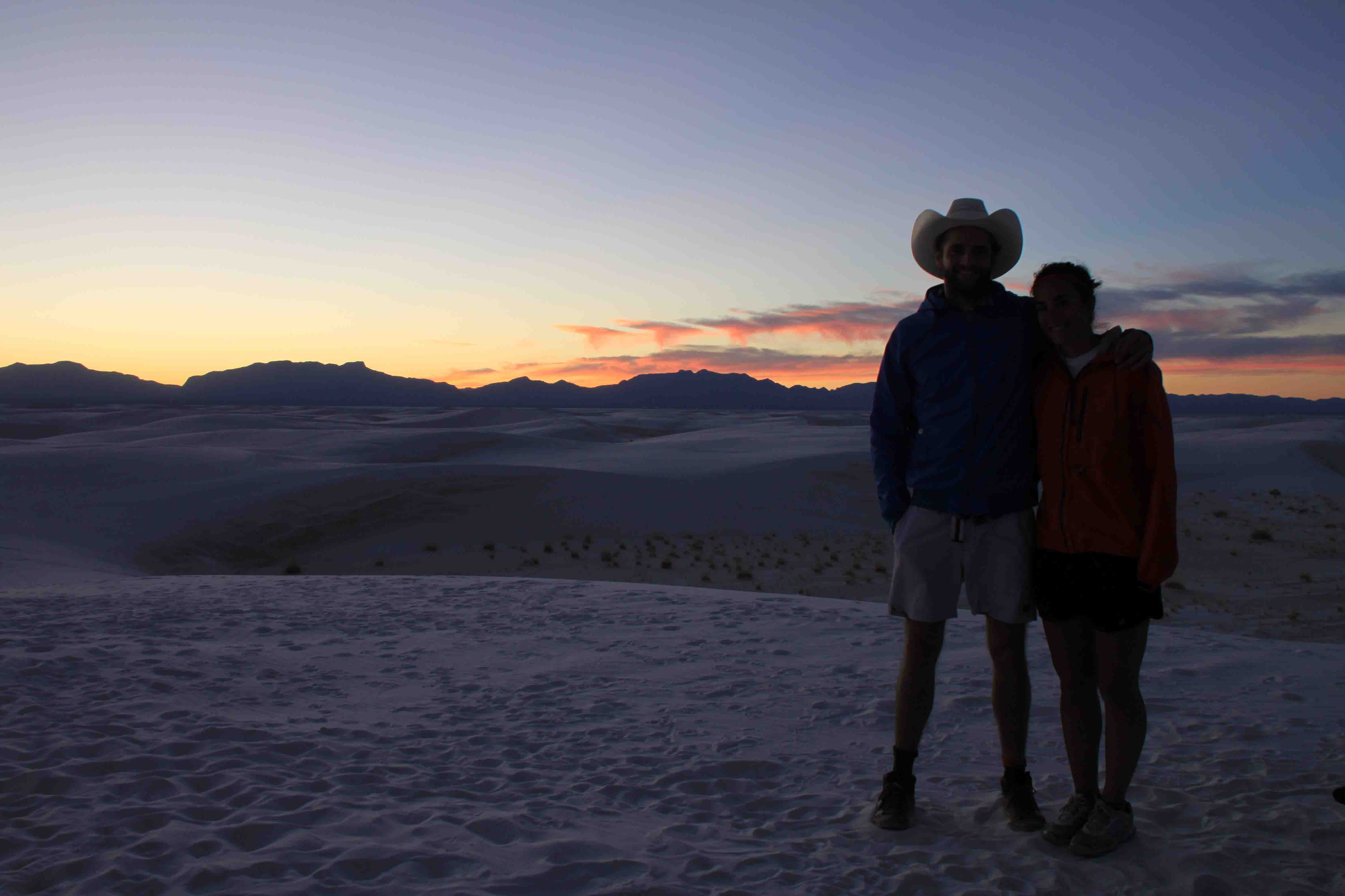 zoe and alex at white sands national monument