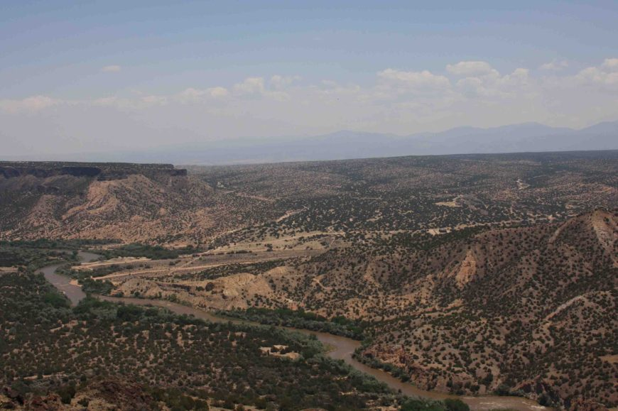 White Rock Overlook in Los Alamos, New Mexico