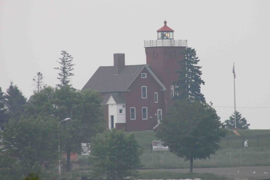 two harbors lighthouse on the north shore