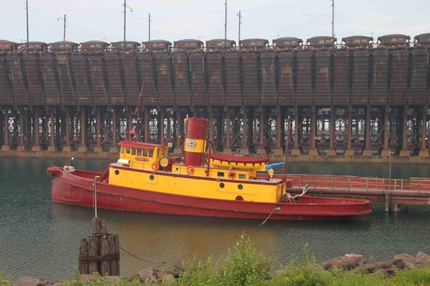 edna g tugboat in Agate Bay