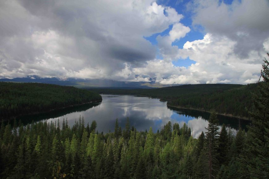 holland lake in flathead national forest