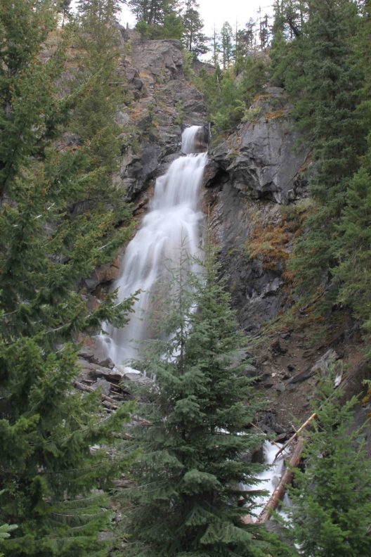 holland lake falls in flathead national forest