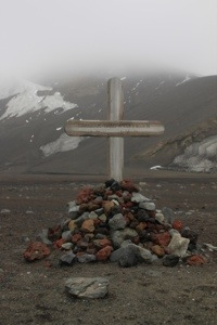 Whalers bay, deception island, Antarctica, grave