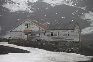 Whalers bay, deception island, Antarctica,